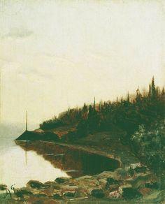 Лесистый берег. Около 1850 - Боголюбов Алексей Петрович