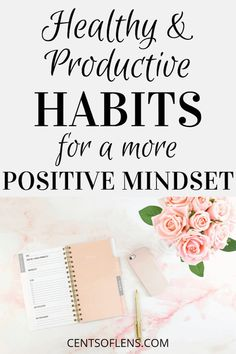 A positive mindset can be difficult to achieve. Luckily, there are healthy and productive habits that encourage a more positive mindset. Change Your Mindset, Success Mindset, Positive Mindset, Positive Thoughts, Good Habits, Healthy Habits, Healthy Routines, Healthy Mind, Becoming A Better You