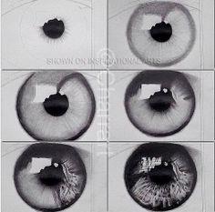 Eye drawing tutorial.