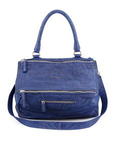 Givenchy Pandora Medium Lamb Satchel Bag, Royal