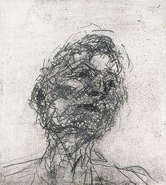 Frank Auerbach, Lucian Freud, Etching , 1981