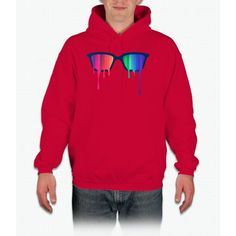 Love Wins! Rainbow - Spectrum (pride) / Hipster Nerd Glasses Unicorn Hoodie