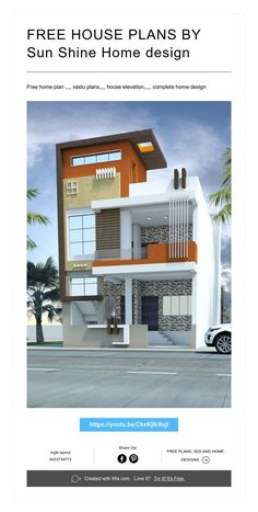 Home Design Modern Tvs 62 Ideas For 2019 Bungalow Haus Design, Duplex House Design, House Front Design, Small House Design, Modern House Design, Home Design, Wall Design, Independent House, Architecture Design