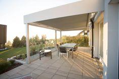 Terrassen Glasdach mit Beschattung