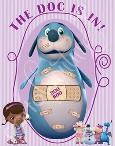 DIY Printable Doc McStuffins Pin the Heart on the by CartaCouture, $12.00