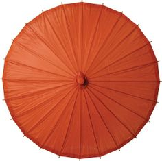 Tangerine Orange 32 Inch Paper Parasol