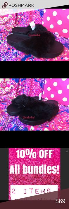 🌸NWT Victoria's Secret M PINK Faux Fur Sandals 🌸 🌸NWT Victoria's Secret M PINK Faux Fur Sandals Flip Flops Slides Black 🌸🌸🌸🌸❤️THANKS FOR SHOPPING @SAFFORDHALL! WE LOVE GREAT OFFERS! SELLERS LOOK FOR 80-90% + OF LIST PRICE TO WIN YOUR BID!❤️BUNDLE TO SAVE!❤️NO TRADES NO LOWBALLS!❤️BULLYS, TROLLS AND HARASSERS ARE REPORTED AND BLOCKED❤️KEEP POSHMARK CLASSY!❤️SPREAD THE LOVE!❤️DO UNTO OTHERS AS YOU WOULD HAVE THEM DO UNTO YOU❤️STOP THINK ACT PROCEED❤️WE WORK HARD TO BRING YOU THE CUTEST…