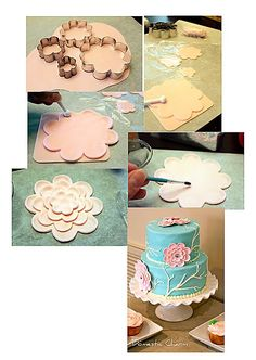 Pretty flower using sugar cookie cutters
