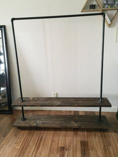 Industrial clothing rack clothes stand pipe rack por fredandmarie