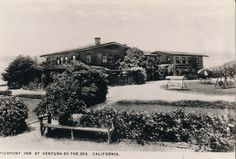 Gleicnmann family purchases Pierpont Inn in February of 1929. Postcard.