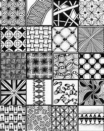 Risultato immagini per zentangle patterns easy zentangle zentangle Zentangle Drawings, Doodles Zentangles, Doodle Drawings, Zentangle Pens, Tangle Doodle, Zen Doodle, Doodle Art, Tangle Art, Easy Zentangle Patterns