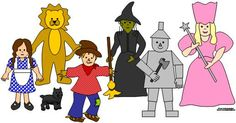 wizard of oz clip art lions and tigers and bears oh my rh pinterest com Wizard of Oz Cartoon Characters Wizard of Oz Printables