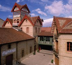 "View of the winery with its tower ""Txori-Toki"" tower - R. López de Heredia Viña Tondonia, S. Haro Spain, The Bodega, Rioja Wine, Wine Images, Ebro, Spanish Wine, Bilbao, Dream Vacations, Travel Guides"