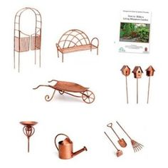 A whole bunch of miniature garden accessories in one set! Georgetown Fiddlehead Fairy Garden Accessories Set via Amazon.com