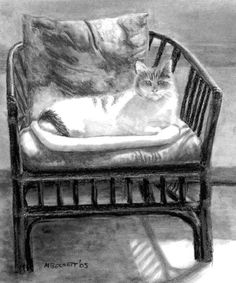 Cat and Chair by Michael Beckett on ARTwanted
