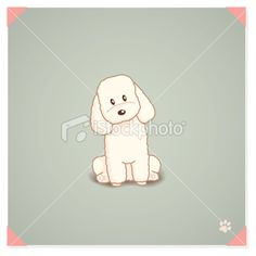 Toy Poodle Sitting Royalty Free Stock Vector Art Illustration
