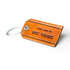 A luggage tag for the world traveler.