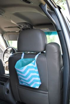 You are going to love this trendy Trash Bag/Bin/Toys Totes. They are made of the same high end material as our beach bags, backpacks, lunch totes....they a completely washable and won't loose it's colorful luster. They arelined, wipe-able reusable trash can for your vehicle, home, office....their uses are endless!!Your new trash bin/bags/totes are super versatile, you are able to attach to the back of a head rest, to the gear shift, or just about anywhere!  Because it issecured p...