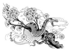 japanese style tiger & snake tattoos - Google Search