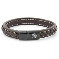Buy Lucleon - Brown Retro Leather Bracelet for only Shop at Trendhim and get returns. Bracelets For Men, Beaded Bracelets, Tiger Eye Bracelet, Red Tigers Eye, Engraved Bracelet, Leather Men, Black Leather, Black And Brown, Diy Jewelry Making