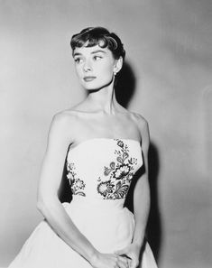 Audrey Hepburn photographed during the production of Sabrina, 1953.