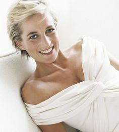 The late Princess Diana of Wales (she never looked better than when Mario Testino shot her)