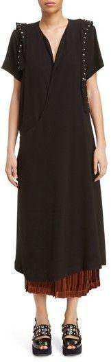 Toga Women's Georgette Faux Wrap Dress