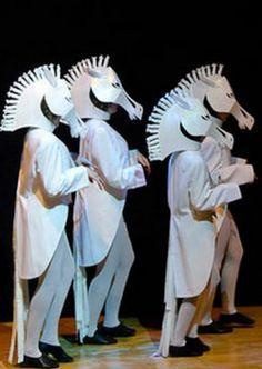 ₪ Paper Art Potpourri ₪ Cinderella white horse masks