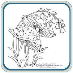 mushroom ring quilt | Retro Owls & Mushrooms Patterns