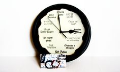 Harry Potter Clock by LetterThings - Potter Talk Harry Potter Clock, Owl Clothes, Product Review, Fantastic Beasts, My Books, Lettering, Reading, Etsy, Drawing Letters