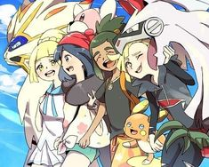 Look at Gladion and tell me he ain't cute! Pokemon Manga, Pokemon Alola, Pokemon People, Pokemon Fan Art, Dragon Ball, Gotta Catch Them All, Cute Images, Memes, Nerd