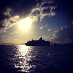 Star Pisces Silhouette Star Pisces, Cruise, Clouds, Silhouette, Ship, Celestial, Sunset, Stars, Instagram Posts