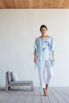Pure Jill artisanal linen poncho