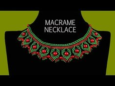 M DIY Macrame Necklace with Diamonds and Beads - YouTube