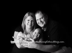 Sweet baby boy and parents