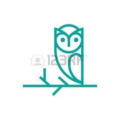 Owl Template Lizenzfreie Bilder