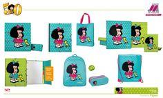 No podía faltar nuestra colección de carpetas, mochilas, estuches... En honor al 50 Aniversario de #Mafalda...