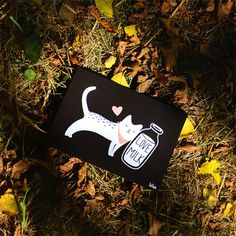 "Postcard ""Love milk"" Tad lapin"