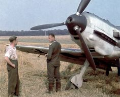 Luftwaffe ace Oberfeldwebel Max Buchholz from / I.Gruppe / Jagdgeschwader 3 (JG in front of a Messerschmitt Bf 109 in France, On 17 May he claimed four RAF Blenheim twin-engine bombers and two French Curtiss fighters shot down as his first victories! Ww2 Aircraft, Fighter Aircraft, Military Aircraft, Fighter Jets, Luftwaffe, Me 109, Ww2 Planes, Air Force, Battle Of Britain