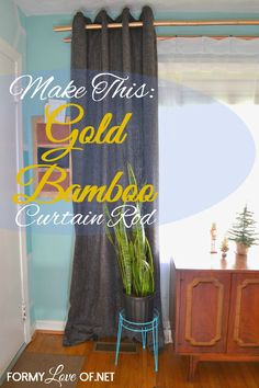 diy bamboo curtain rod - Google Search