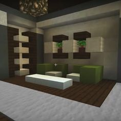 Minecraft family living room and fireplace couch chair tv for Room design 4x4