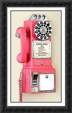 Pink payphone....too cool!