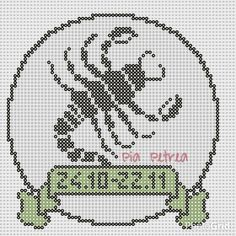 Billedresultat for stjernetegn i perler Cross Stitching, Cross Stitch Embroidery, Cross Stitch Patterns, Hama Beads Patterns, Beading Patterns, Signes Zodiac, Cross Stitch Alphabet, Knitting Charts, Bead Art