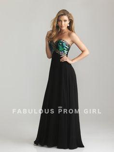 A-line Sweetheart Beading Sleeveless Floor-length Chiffon Prom Dresses / Evening Dresses - FabulousPromGirl.com
