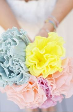DIY ● Tutorial ● crepe paper flower bouquet