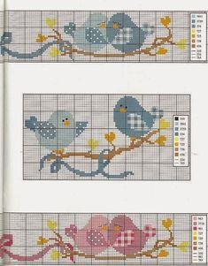 Apaixonada por Ponto Cruz: Sugestões para Toalha de Casal - Passarinhos em Alta [] #<br/> # #Internet #E,<br/> # #Milena,<br/> # #Rodrigo,<br/> # #Cross-stitch,<br/> # #Womenswear,<br/> # #Right,<br/> # #Points,<br/> # #Pictures<br/>