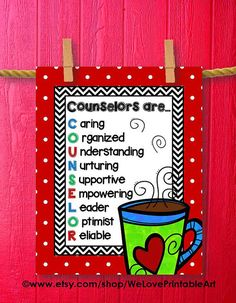 School Counselor Office Christmas Gift Door Sign Decoration Back to School Printable Decoration Counseling Poster