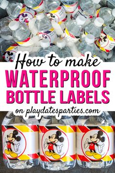 Diy water bottle labels - The Best Choice for Making Waterproof Water Bottle Labels – Diy water bottle labels Printable Water Bottle Labels, Wine Bottle Labels, Printable Labels, Beer Labels, Printables, Water Bottle Crafts, Diy Bottle, Water Bottles, How To Make Water