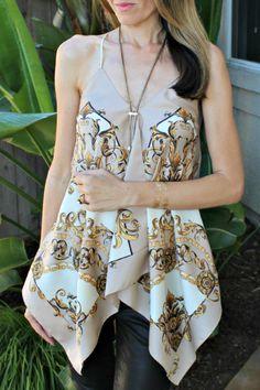 Make a summer halter from scarves