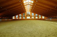 Huge indoor riding ring, yes please.